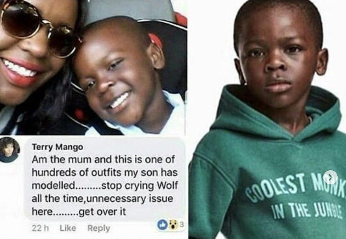 Мать чернокожей модели H&M выразила непонимание по поводу всеобщего возмущения