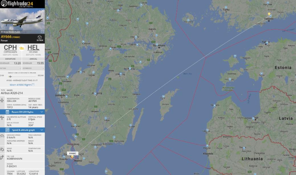 «Адский» рейс 666 в Хельсинки совершил свой последний за 15 лет полёт