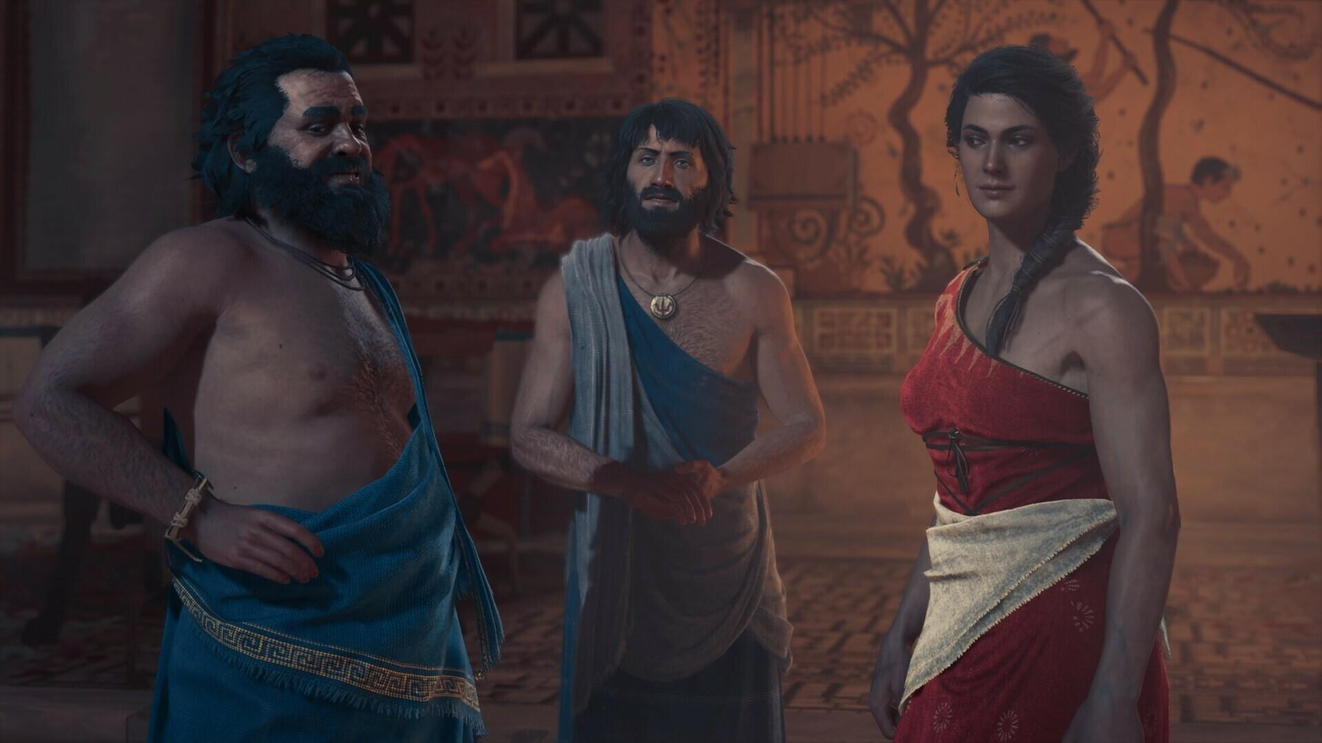 Персонажи в Assassin's Creed Odyssey.