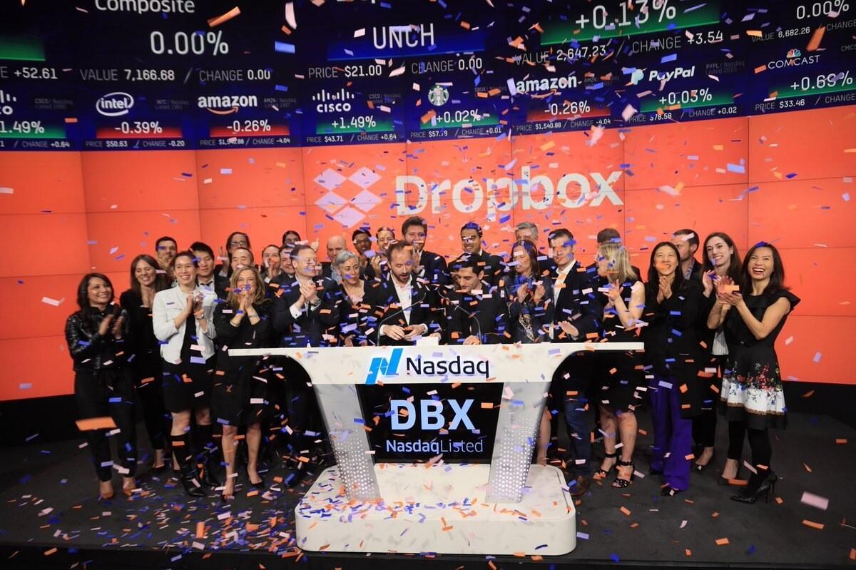 Акции Dropbox выросли на 40% на старте торгов