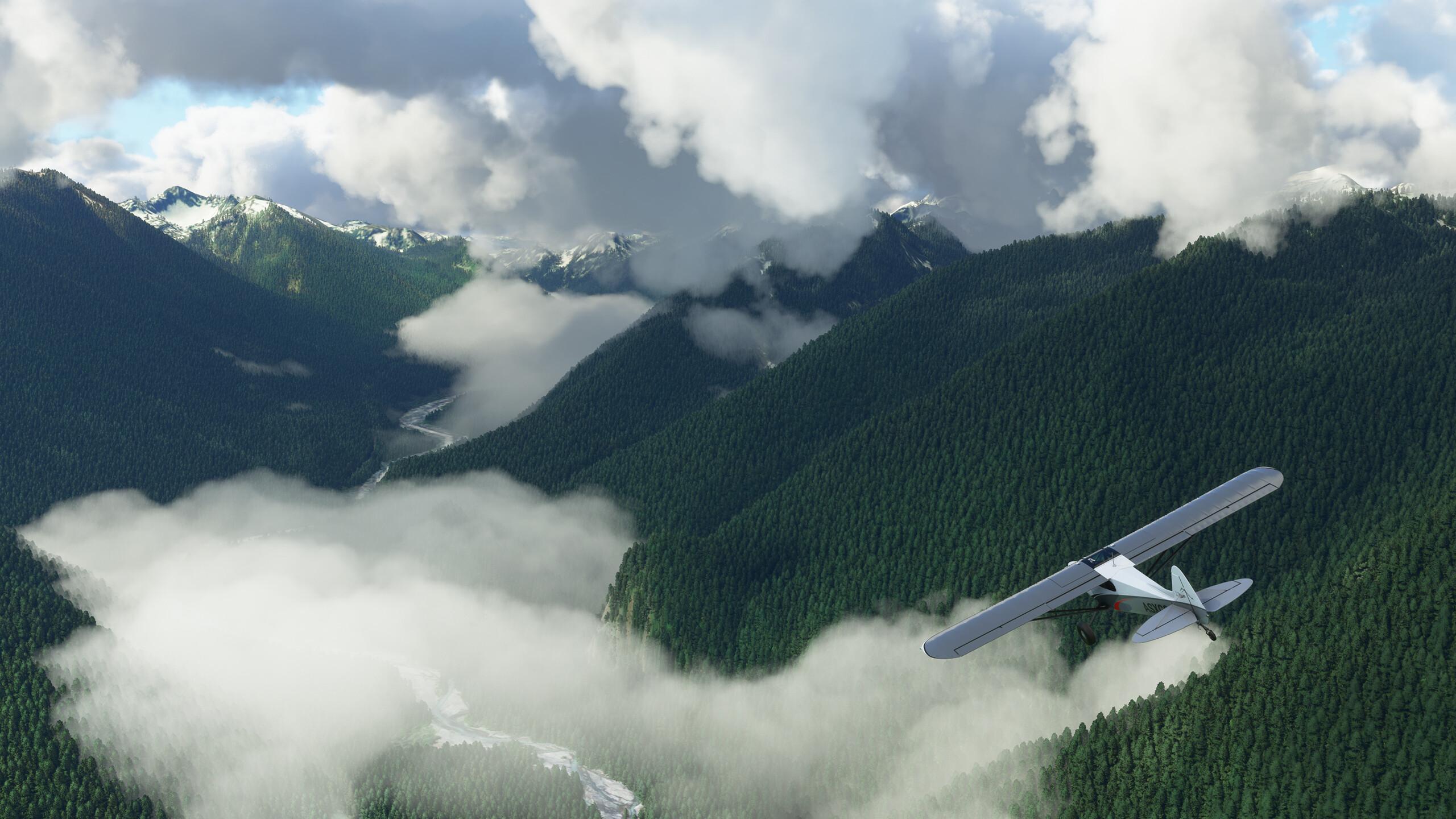 Фотореалистичная графика в Microsoft Flight Simulator.