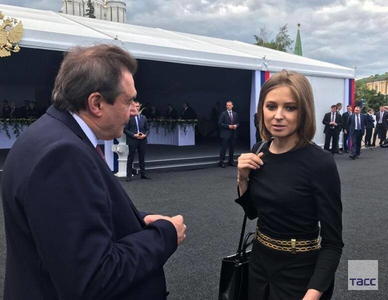 Фото: Встреча Натальи Поклонской и режиссёра «Матильды» Алексея Учителя
