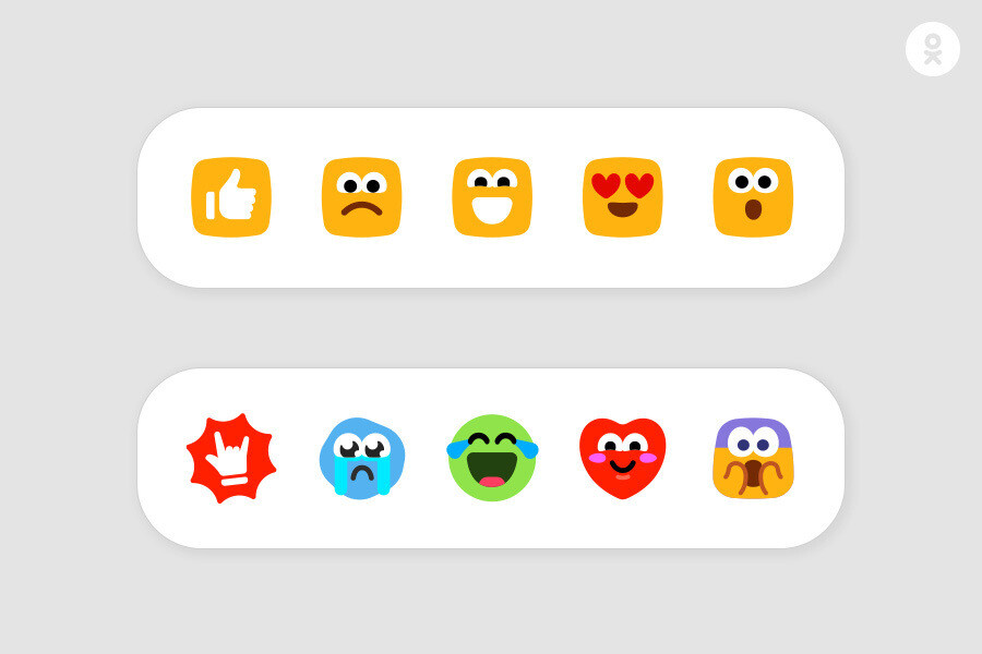 «Одноклассники» введут «Мило», «Ха-ха», «Грущу» и другие дополнительные реакции к записям