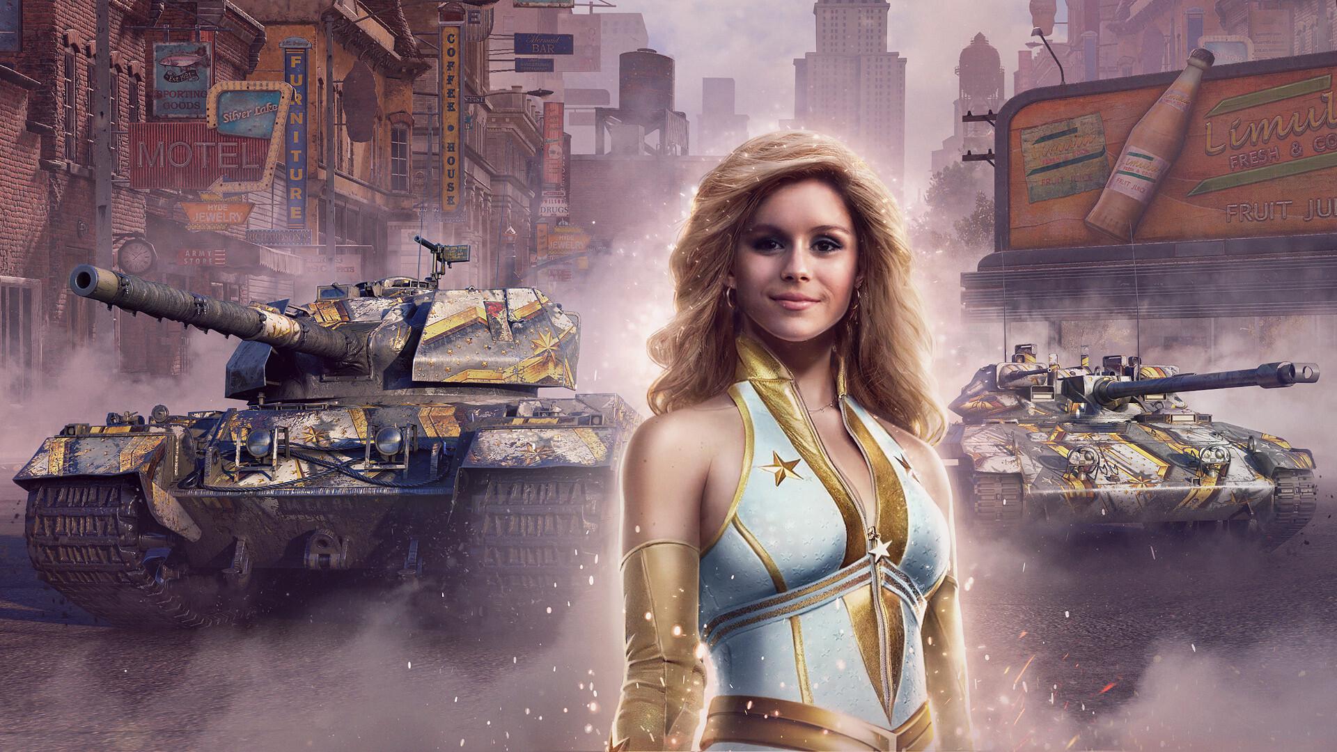 В World of Tanks стартовал временный ивент с «Пацанами» — в качестве командира можно выбрать Старлайт