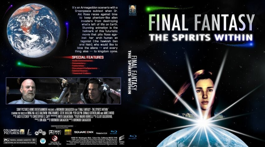 DVD бокс Final Fantasy: The Spirits Within