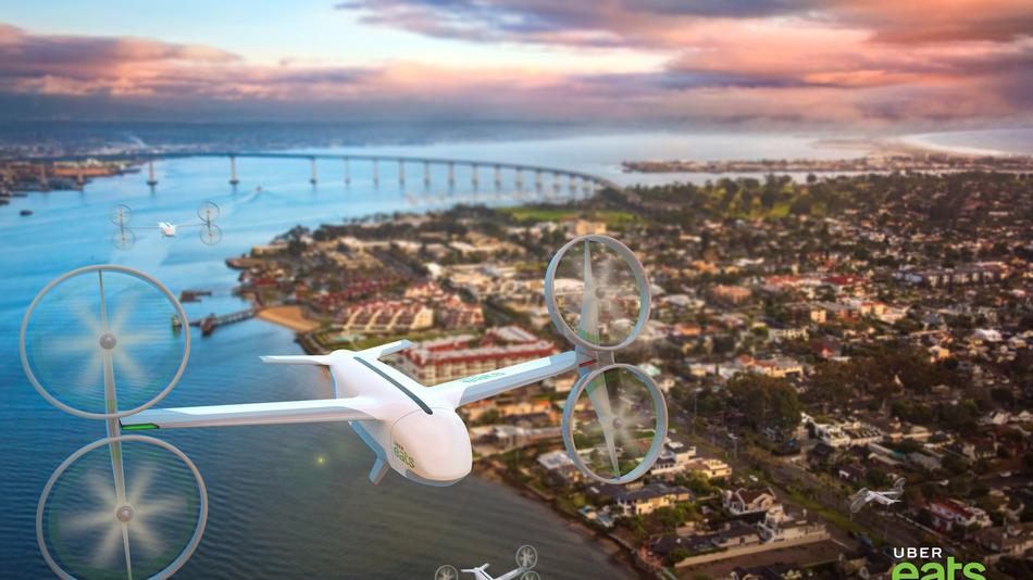 WSJ: Uber планирует доставлять еду дронами с 2021 года