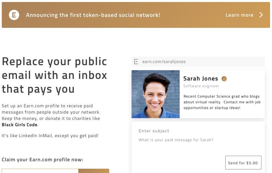 Стартап дня: сервис для платной email-переписки Earn