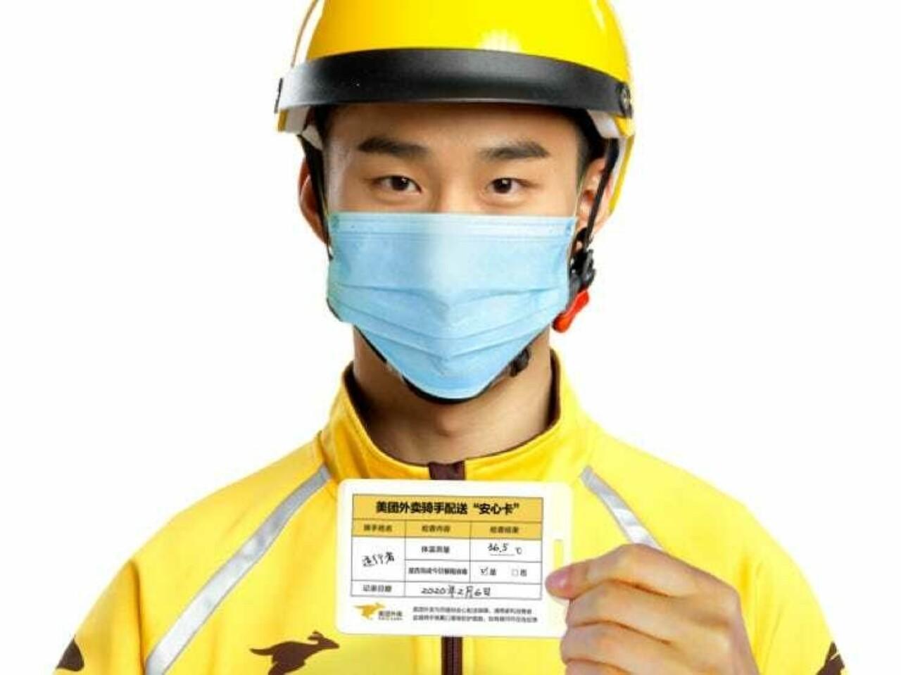 Китайский сервис доставки еды Meituan Dianping запустил бесконтактную доставку заказов на фоне вспышки коронавируса