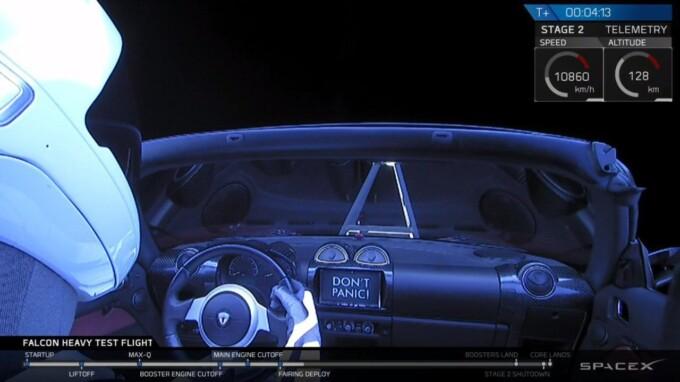 Как это было: Space X запустила в космос самую тяжёлую ракету Falcon Heavy с Tesla на борту (2 фото + 2 видео)
