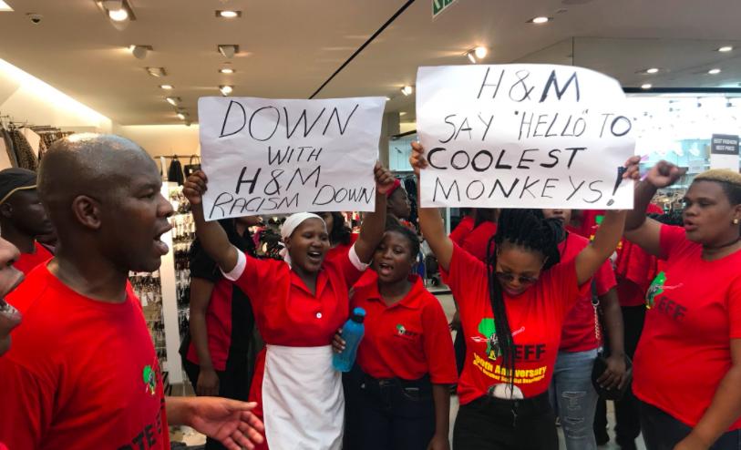 В Африке протестующие разграбили несколько магазинов H&M после расистского скандала