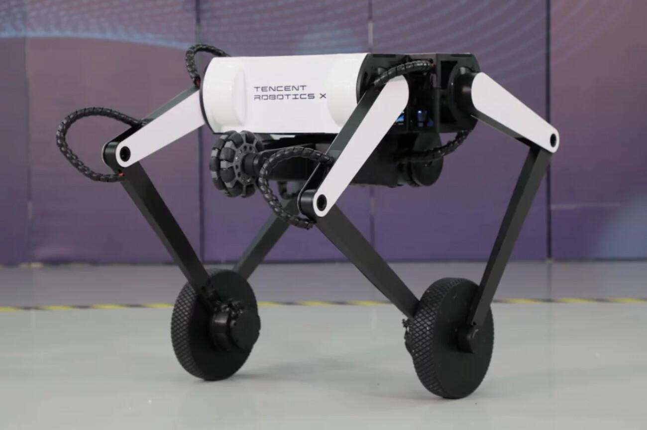 Tencent представила двухколёсного робота Олли  он умеет преодолевать препятствия и делать сальто
