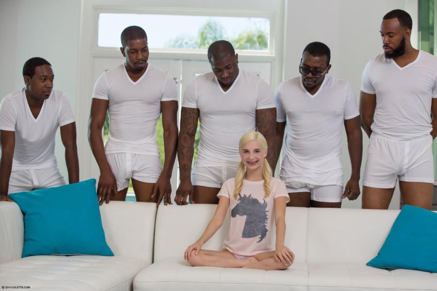 девушка и много мужиков порно