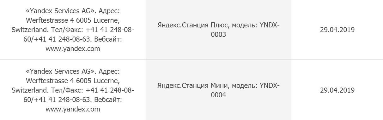 «Яндекс» получил разрешение на выпуск «Станций» под названиями «Мини» и «Плюс»