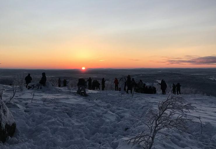 Фото: Первый рассвет в Мурманске после полярной ночи