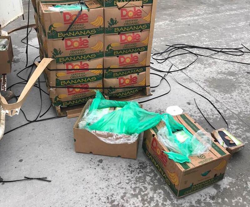 Техасской тюрьме пожертвовали 45 ящиков бананов. Охрана нашла в них кокаин на 18 миллионов долларов