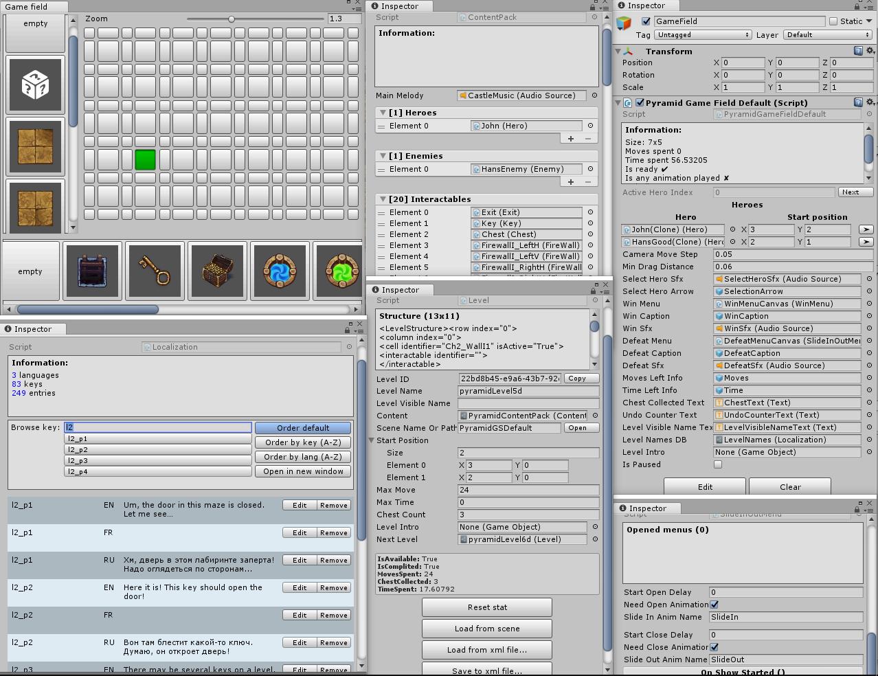 Кастомные редакторы для Unity3D, которые мы используем в игре