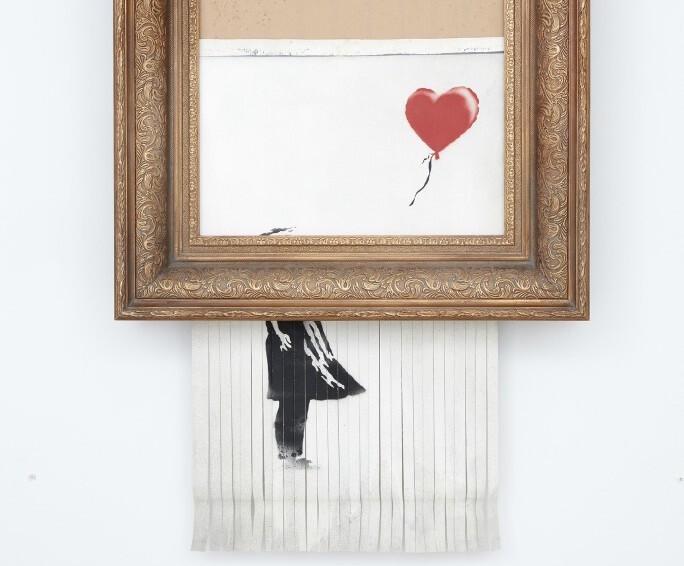 Коллекционер не отказалась от покупки самоуничтожившейся картины Бэнкси. Она заплатила 1,4 млн долларов