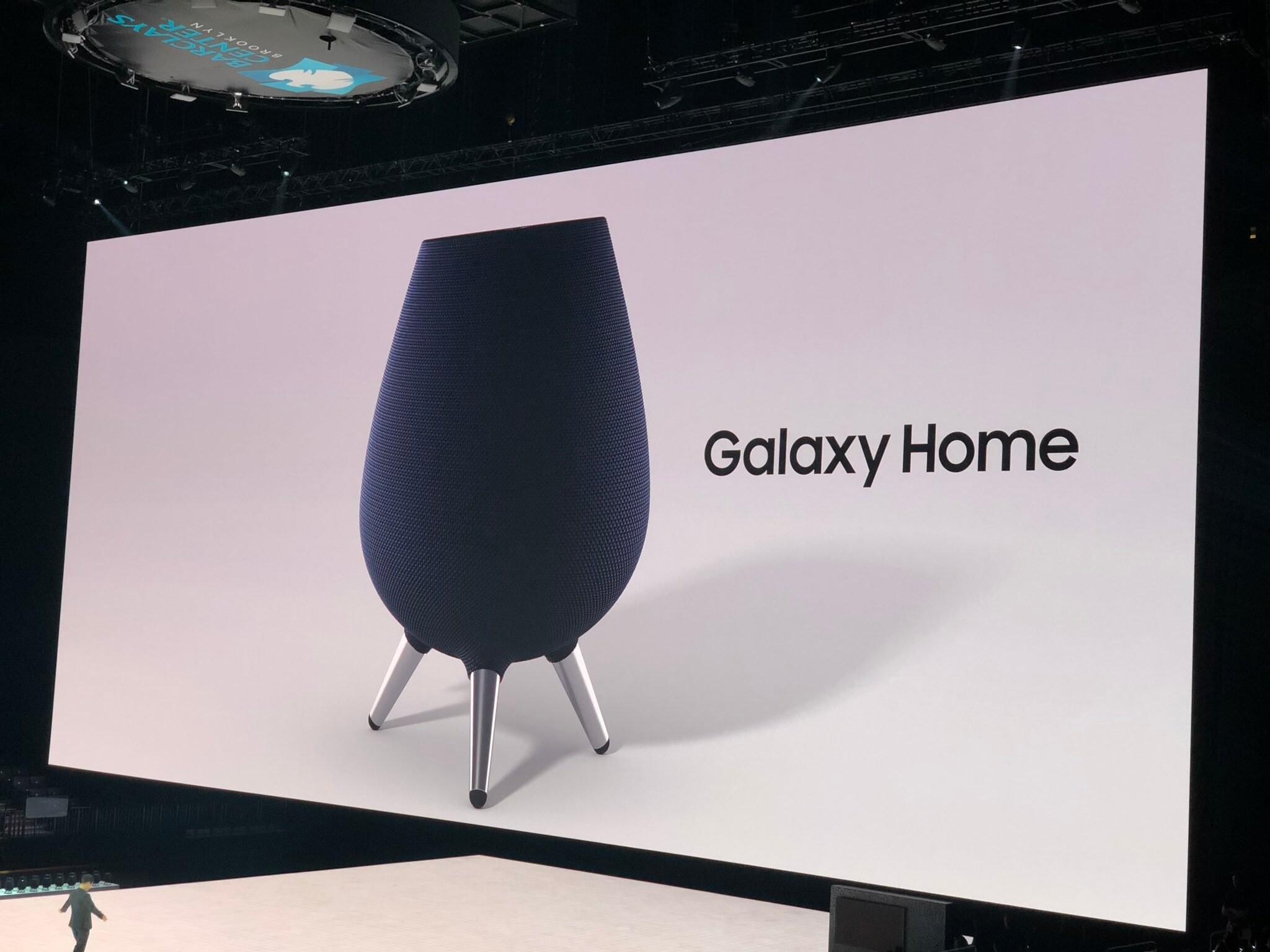 Samsung представила «умную» колонку Galaxy Home. Её сравнили с грилем, сосудом для кумыса и вазой из «Прометея»