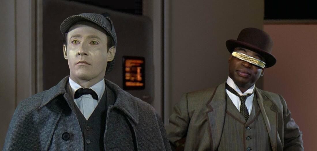 Голограмы запрограммированы не замечать странного внешнего вида посетителей. Таким образом на голопалубах можно, например, разыграть приключения Шерлока Холмса с собой в главной роли