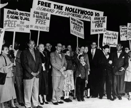Митинг в защиту «голливудской десятки», 1950