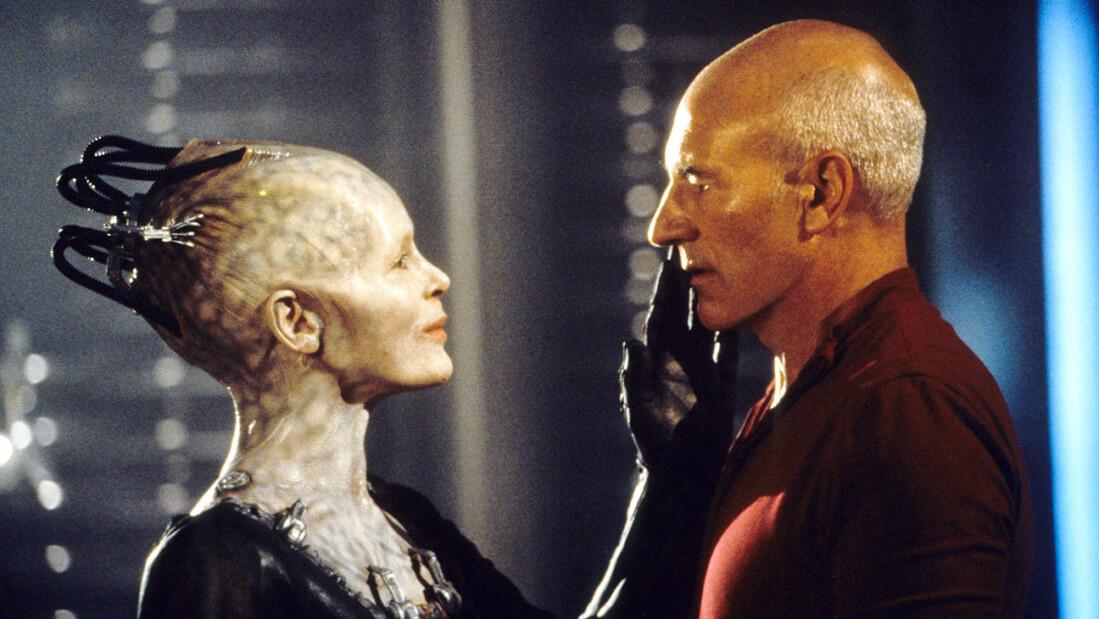 Королева Борг и Пикар в Star Trek: First Contact